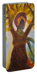 Tree Woman Portable Battery Charger by Theresa Marie Johnson