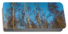 Trees And Blue Sky Portable Battery Charger