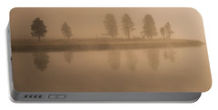 Trees And Fog Portable Battery Charger