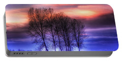 Trees And Twilight Portable Battery Charger