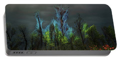 Trees Electrified In Fantasy Land Portable Battery Charger
