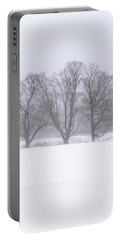 Trees In Fog Portable Battery Charger