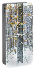 Trees In Snow Portable Battery Charger