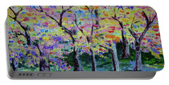 Trees On Hideaway Ct Portable Battery Charger by Lisa Rose Musselwhite