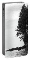 Trees Over The Ocean Portable Battery Charger
