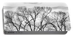 Portable Battery Charger featuring the photograph Trees Silhouette Black And White by Jennie Marie Schell