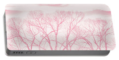 Portable Battery Charger featuring the photograph Trees Silhouette Pink by Jennie Marie Schell