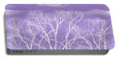 Portable Battery Charger featuring the photograph Trees Silhouette Purple by Jennie Marie Schell