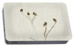 Treetop Starlings Portable Battery Charger by Benanne Stiens