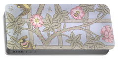 Trellis   Antique Wallpaper Design Portable Battery Charger