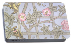 Trellis   Antique Wallpaper Design Portable Battery Charger by William Morris