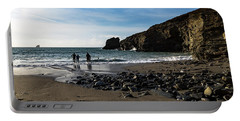 Portable Battery Charger featuring the photograph Trevellas Cove by Brian Roscorla