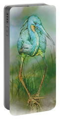 Tri-colored Heron Balancing Act - Colorized Portable Battery Charger