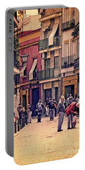 Portable Battery Charger featuring the photograph Triana On A Sunday Afternoon 2 by Mary Machare