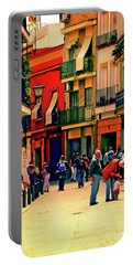 Portable Battery Charger featuring the photograph Triana On A Sunday Afternoon 3 by Mary Machare