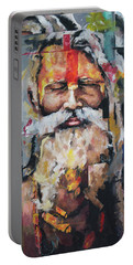 Tribal Chief Sadhu Portable Battery Charger by Richard Day