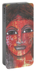 Tribal Woman Portable Battery Charger