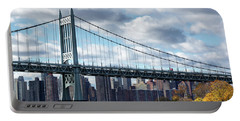 Triboro Bridge In Autumn Portable Battery Charger