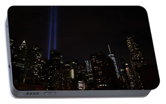 Portable Battery Charger featuring the photograph Tribute And Tower by Jeff at JSJ Photography
