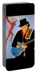 Portable Battery Charger featuring the painting Tribute To Carlos by Stephanie Moore