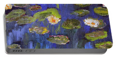 Tribute To Monet Portable Battery Charger by Michael Helfen
