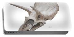 Triceratops Skull Portable Battery Charger