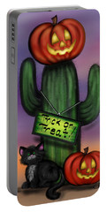 Trick Or Treat Cactus Portable Battery Charger