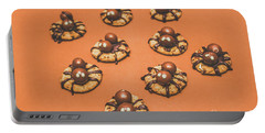Trick Or Treat Halloween Spider Biscuits Portable Battery Charger