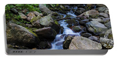 Trickling Mountain Brook Portable Battery Charger by Sean Allen