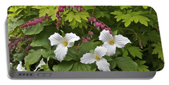 Trillium And Bleeding Hearts1079 Portable Battery Charger