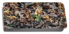 Trillium Blooming In Leaves On Forrest Floor Portable Battery Charger