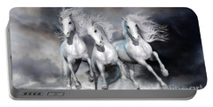 Trinity Galloping Horses Blue Portable Battery Charger