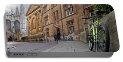 Portable Battery Charger featuring the photograph Trinity Lane Clare College Cambridge Great Hall by Gill Billington