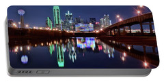 Trinity River And Pond Portable Battery Charger by Frozen in Time Fine Art Photography