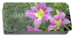 Trio Lavender Day Lilies Portable Battery Charger