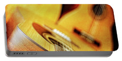 Trio Of Acoustic Guitars Portable Battery Charger