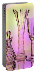 Trio Of Cut Glass Portable Battery Charger