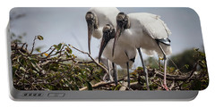 Trio Of Wood Storks Portable Battery Charger