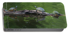 Trio Of Turtles Sunning Portable Battery Charger