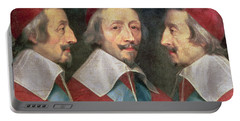 Triple Portrait Of The Head Of Richelieu Portable Battery Charger