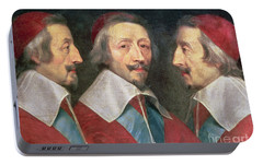 Triple Portrait Of The Head Of Richelieu Portable Battery Charger by Philippe de Champaigne