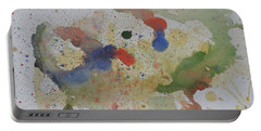 Portable Battery Charger featuring the painting Triple Rooster Race by Vicki  Housel