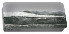 Portable Battery Charger featuring the photograph Triple Wave Action by Holly Ethan