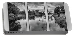 Triptych Trim Castle 2 Portable Battery Charger by Martina Fagan