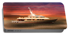 Portable Battery Charger featuring the photograph Triton Yacht by Aaron Berg