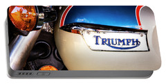 Triumph Motorcyle Portable Battery Charger by Andy Crawford