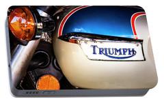 Portable Battery Charger featuring the photograph Triumph Motorcyle by Andy Crawford