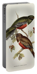 Trogon Collaris Portable Battery Charger by John Gould