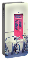 Portable Battery Charger featuring the photograph Trois - Three Bicycles In Paris by Melanie Alexandra Price