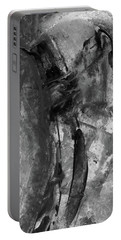 Trojan Horse - Black And White Vertical Painting Portable Battery Charger